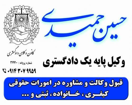 حسین حمیدی وکیل پایه یک دادگستری
